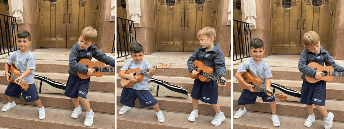 students with ukeleles